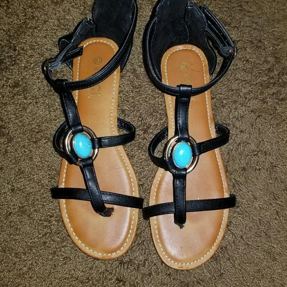 3fccf9948a93 Cute Black Rouge Helium Sandals